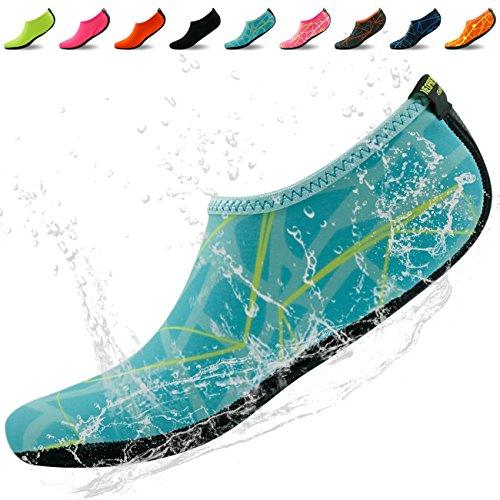 Home Slipper Scarpe A Pelle Dacqua A Piedi Nudi Aqua Calze In Neoprene Per Piscina Da Spiaggia Swim Surf Yoga Snorkeling Stampato Blu