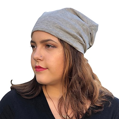 Satin Life Adjustable Drawstring Soft Slouchy Satin Lined Hat Cap Beanie (Light - Wrap Silk Lined