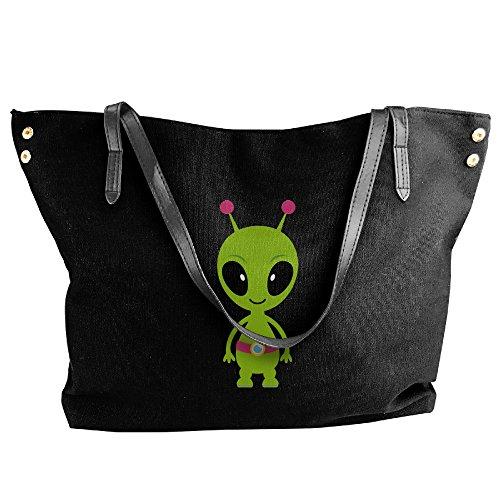 Ladies Friendly Alien Large Tote Bags,canvas Bags,shoulder Handbags
