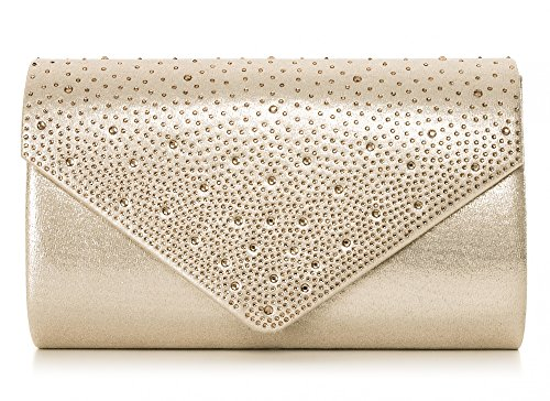 Taupe Decoration Clutch Evening H x Vincent 25 Bag Shoulder Satin Bag 5x10x5 Perez T Clutch Crystal Pattern Rose W Bead cm Bag x Floral g5Eqw6nq