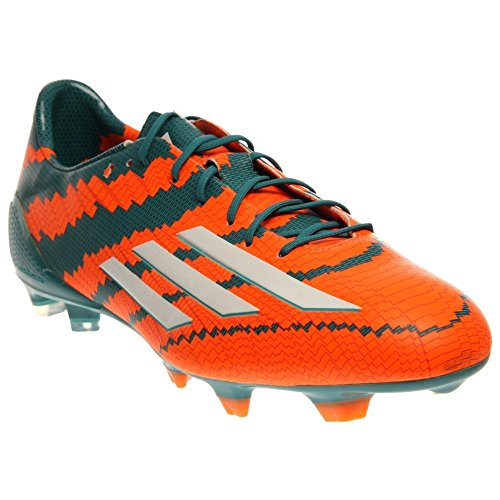 adidas Mens Messi 10.1 FG Firm Ground Soccer Cleat 8 US, Power Teal/White/Orange