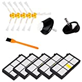 13 Pcs Roomba 880 Front Caster Wheels & HEPA Filters & 3-Armed Side Brushes Accessory Kits , Hongfa Replacements for iRobot Roomba Vacuum Cleaner 800 900 Series (870 880 980)
