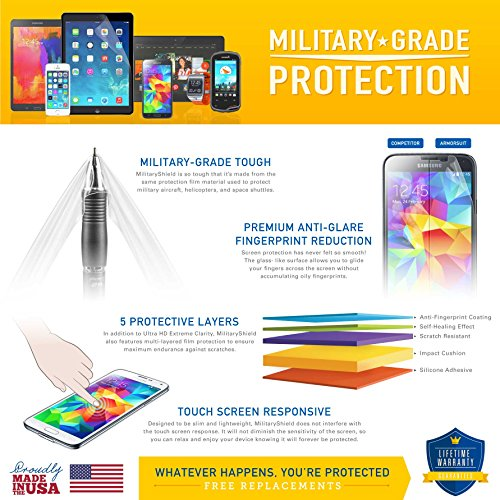 Galaxy S8 Active Screen Protector [Max Coverage] ArmorSuit MilitaryShield Lifetime Replacement Screen Protector For Galaxy S8 Active