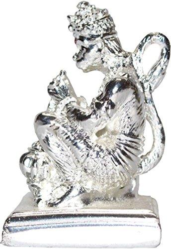 Creativegifts Silver Hanuman + Rudraksha Bracelet