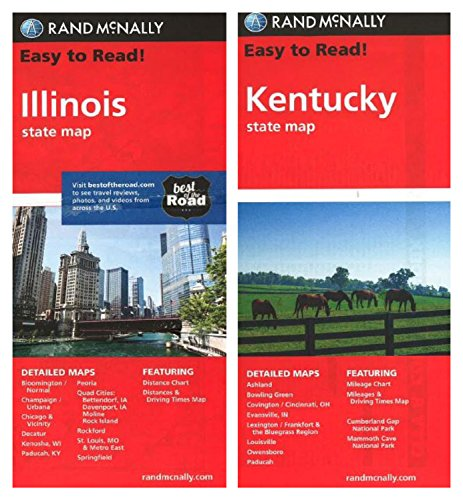 Rand Mcnally State MAPS: Kentucky And Missouri (2 Maps)