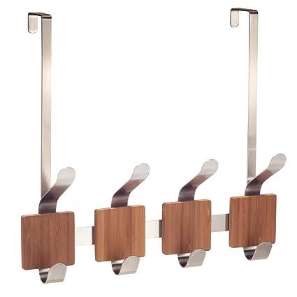 Bon InterDesign Formbu Over Door Storage Rack U2013 Organizer Hooks For Coats,  Hats, Robes,
