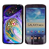 Smartphone Protective Case Slim PC Hard Cover Case for Samsung Galaxy Mega 6.3 / CECELL Phone case / / Bright Neon Marble Paint Balls /