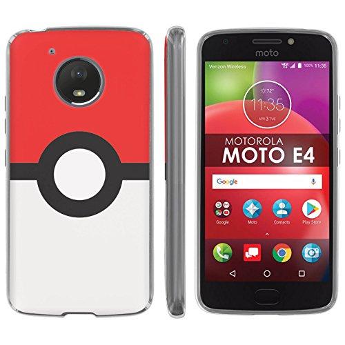 Motorola Moto E [4th Gen] TPU Silicone Phone Case [Mobiflare] [Clear] Ultraflex Thin Gel Phone Cover - [Red Ball] for Moto E4 [Moto E 4th Gen] [5