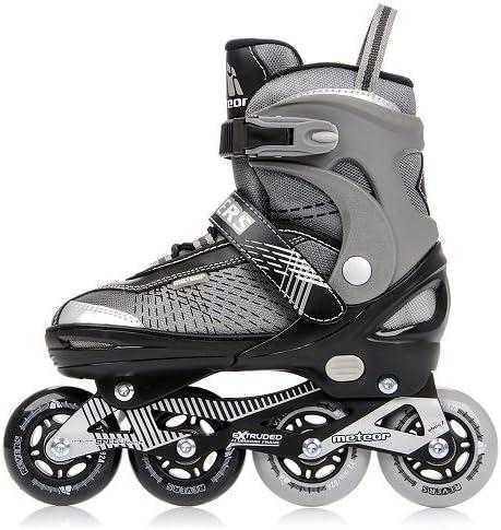 meteor® Inliner Rollschuhe - Disco Inline Schutzer für Damen und Kinder - Original Inlineskates für Madchen Skates mit ABEC-7 Roller Kohlenstoff Kinder inliner mit Einstellbarer Größe des Schuhs