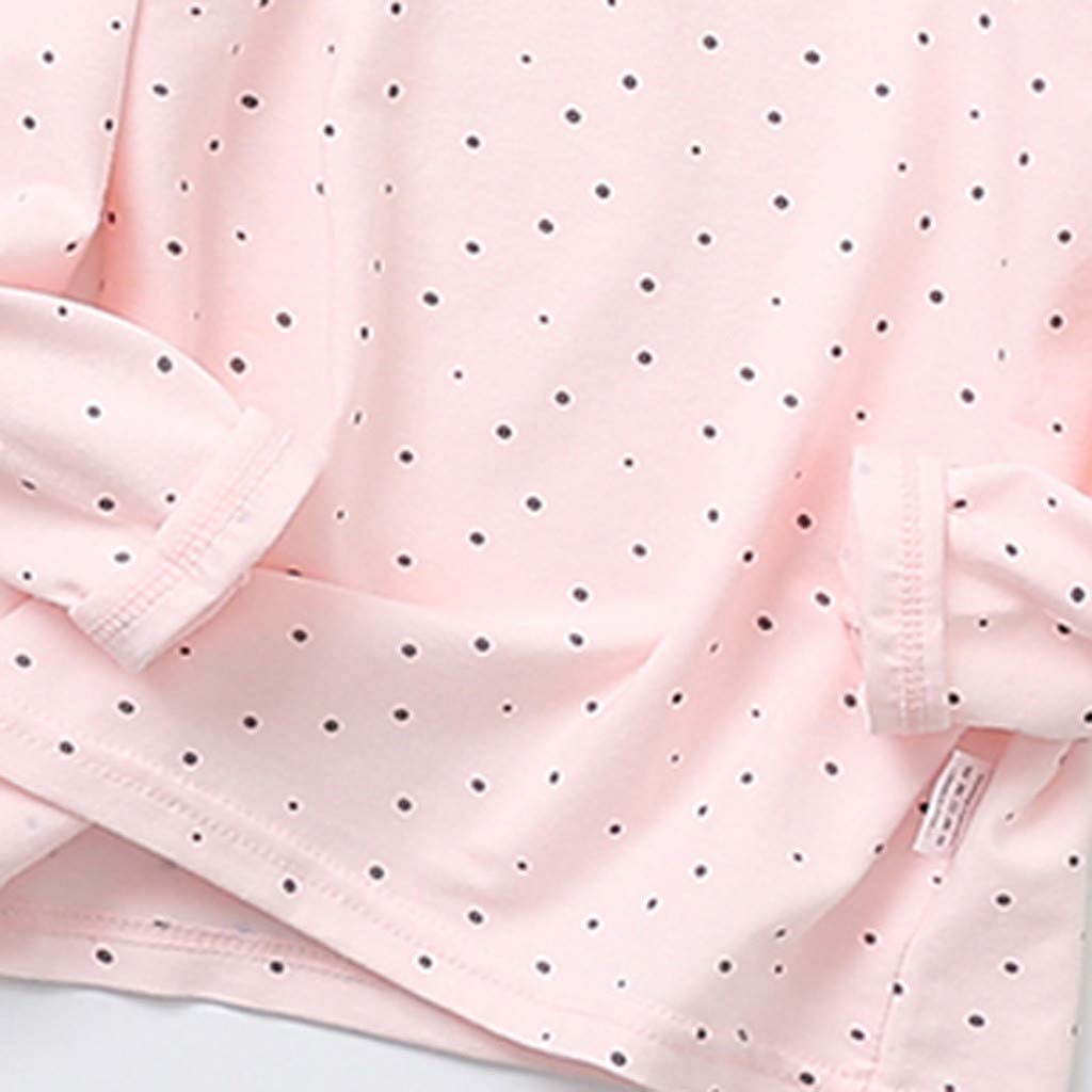 Trousers Home Dress Pyjamas Suit Fabal Toddler Kids Baby Girls Boys Outfits Childrens Long Sleeve Point Printed Top Pink,140