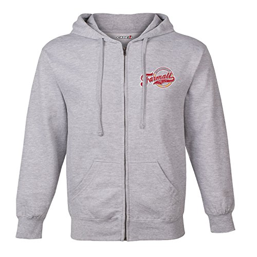 (Country Casuals Farmall Vintage Circle Fleece Zip Up Hoodie)