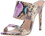 Steve Madden Women's Mallory Heeled Sandal Multi Snake 8 M US