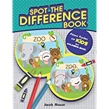 Spot The Difference Book: Picture Puzzles For Kids And Coloring Book