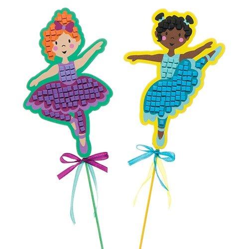Loisirs cr/éatifs pour Enfant Baker Ross Kits de Baguettes Magiques Danseuses en mosa/ïque Que Les Enfants pourront fabriquer et Exposer/ Lot de 4