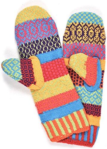 免除する遅いホバートSolmate Socks レディース 不一致フリース裏地ミトン