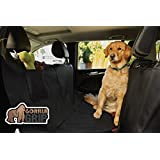 The Original GORILLA GRIP (TM) Non-Slip Hammock Car Seat Protector for Pets, Waterproof, Pocket, Underside Grip, Anchors, Straps To Secure Cover (Black)
