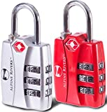 UltraTuff TSA Approved Lock - RED OPEN ALERT Indicator for Luggage & GYM Lockers
