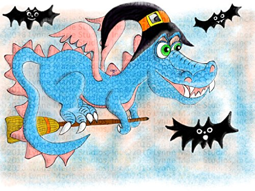 Print - Halloween Creamsicle Dragon and Randy the Bat 19