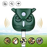 ZYYRSS Solar Animal Repellent, Solar Powered Repellent with Motion Sensor Ultrasonic and Flashing