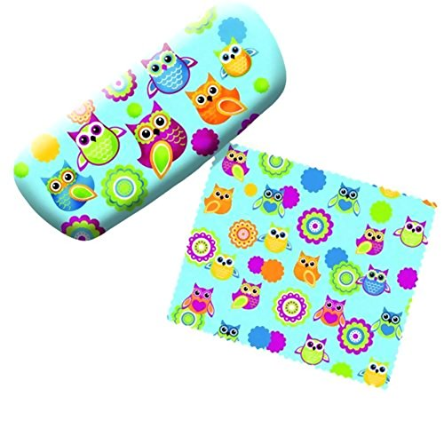 Spoontiques Eyeglass Case, Funky Owls, with Lens - Funky Glasses Case