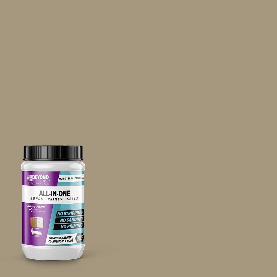 BEYOND PAINT - Furniture, Cabinets and More All-in-One Refinishing Paint Quart- color:Pebble