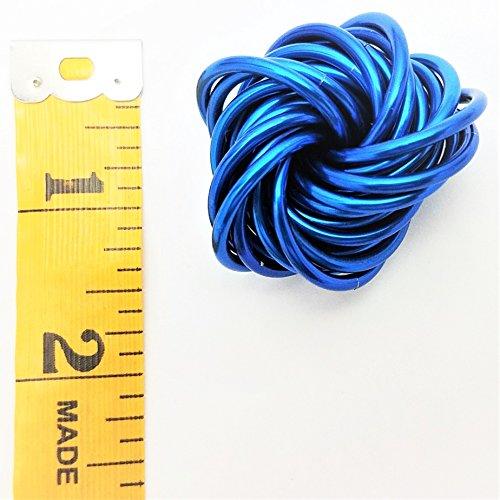 Möbii Medium Fidget Balls: Mobius Stress Ball Fidget Toy for Restless Hands, Office Desk Toy, Anxiety Relief, Stress Relief, ADD, ADHD (Cobalt) by Möbii (Image #1)
