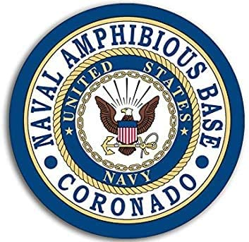 Logo Navy ca Round Naval Amphibious Base Coronado Seal Sticker