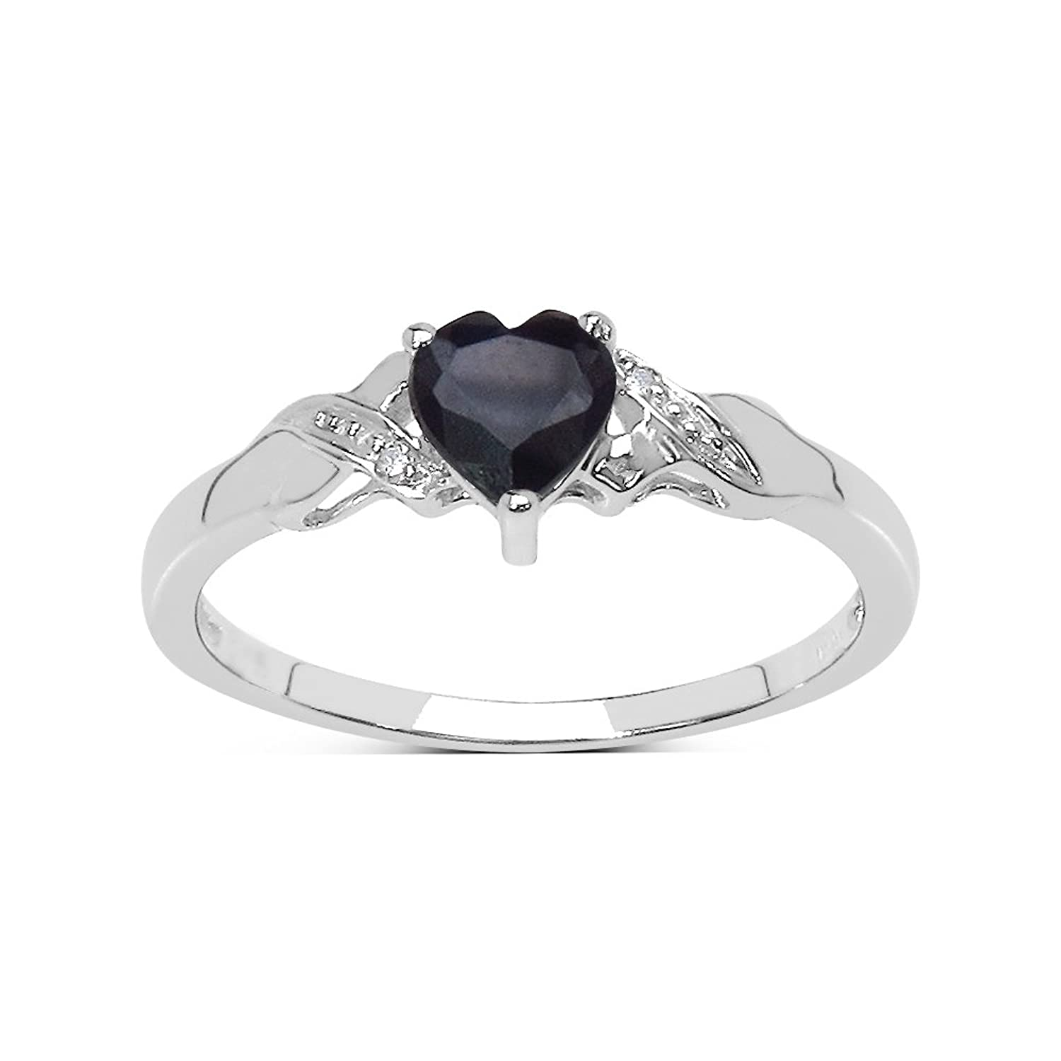 The Sapphire Ring Collection Beautiful Sterling Silver Heart