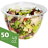 best seller today Salad Bowls to go with Lids (50 Pack)...