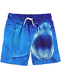 Boys 3D Printed Funny Swim Trunks Quick Dry Beachwear Sports Running Swim Board Shorts