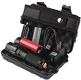 Flashlight set, VIASA 6000Lumens Shadowhawk X800 Tactical Flashlight T6 LED MilitaryTorch kit