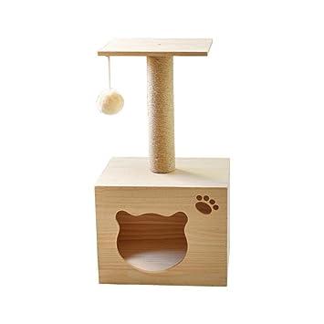 Weiwei Gato Madera Maciza Estante Gato árbol Gato Nido Estante de Madera sólida Pino Bastidor 30 cm * 36 cm * 65 cm Que Sube Que Sube: Amazon.es: Productos ...
