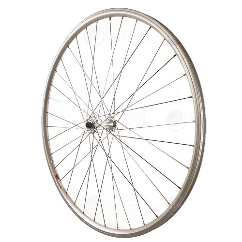 Sta Tru Silver Alloy Road Hub Front Wheel (700X25)