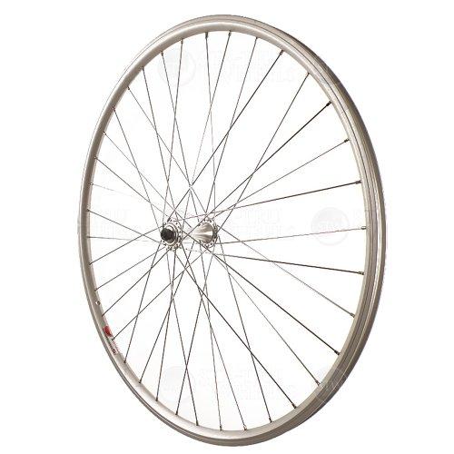 (Sta Tru Silver Alloy Road Hub Front Wheel (700X25))