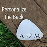 Best Sierra Metal Design Birthday Gift For Men - Personalized Initials Guitar Pick Gift for Him Valentines Review