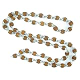 Meditation Mala- Rudraksha Shiva Prayer Beads Healing Mala Silver Caps Japamala, Yoga Necklace