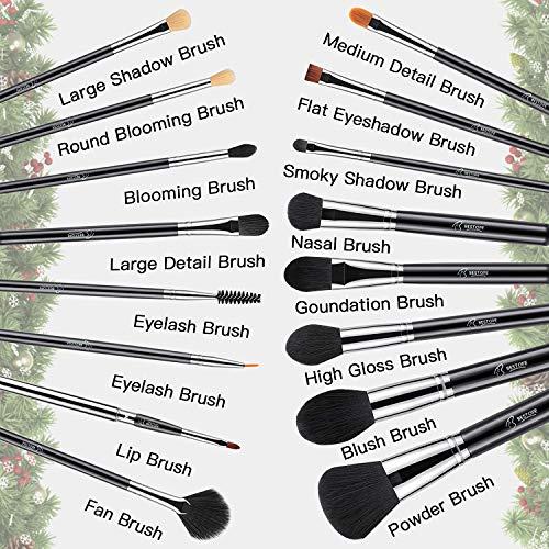 BESTOPE 16Pcs Makeup Brushes Set, 4Pcs Beauty Blender Sponge Set and 1 Brush Cleaner, Premium Synthetic Foundation…