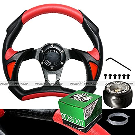 1990-1996 Nissan 300ZX Non-Turbo Battle 320mm Red Steering Wheel with Hub Adaptor