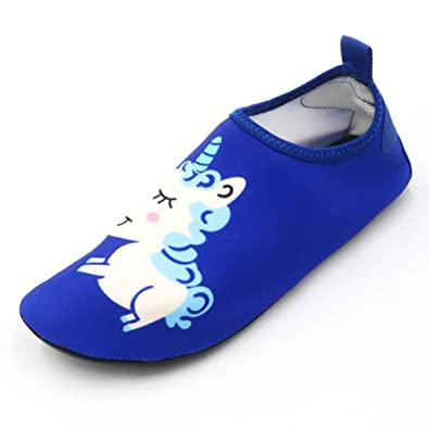 0d69d0d71d Fortuning's JDS Kids Swim Water Shoes Quick Dry Aqua Socks Non-Slip  Barefoot Swim Shoes for Boys Girls Toddler Swimming Outdoor Sports