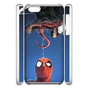 Unique Design Cases iphone5c 3D Cell Phone Case White spider man and venom comic Xsfkx Printed Cover Protector