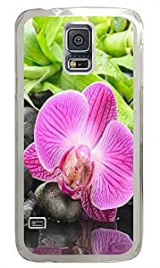 thin Samsung S5 cover Stream Flowers PC Transparent Custom Samsung Galaxy S5 Case Cover