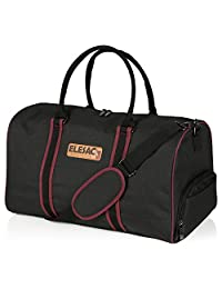 ELESAC duffel bag with shoe compartment and adjustable shoulder strap, water resistant weekend bag, travel bags, perfect for the gym and for Airplane overhead storage