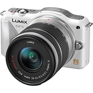 Panasonic Lumix DMC-GF5KW Live MOS Micro 4/3 Compact Sytem Camera with 3-Inch Touch Screen and 14-42 Zoom Lens (White)