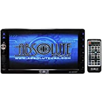 Absolute USA DD-4000ABT 7-Inch Double Din Multimedia DVD Player Receiver with Touch Screen System Display and Detachable Front Panel Built-In Bluetooth