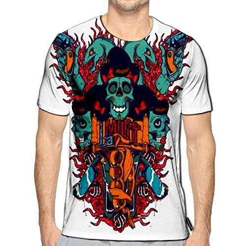 Randell 3D Printed T-Shirts Skull Ghost Evil Vampire Short Sleeve Tops Tees