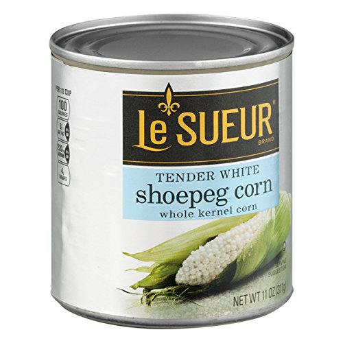 Le Sueur Tender White Shoepeg Whole Kernel Corn, 11 Ounce (Pack of 12)