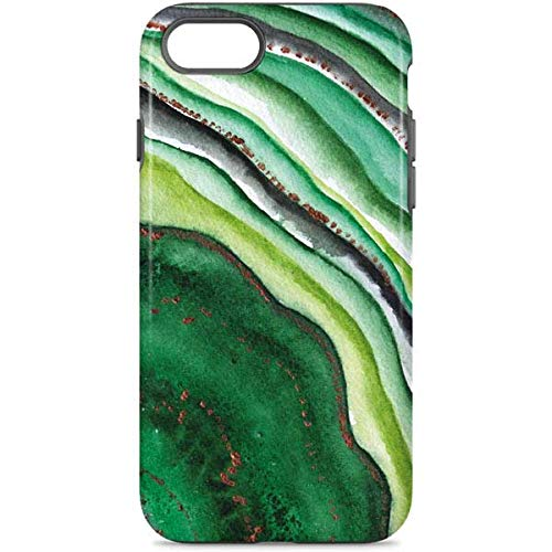 Skinit Geode iPhone 7 Pro Case - Kiwi Watercolor Geode Design - High Gloss, Scratch Resistant Phone Cover