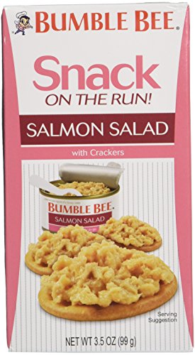 Bumble Bee Snack On The Run Salmon Salad With Cracker- Pack of 4 - 3.5oz Each Box