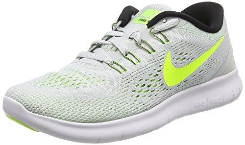 Nike Mujeres Free Rn Pure Platinum / Volt / Black / Wolf Gray