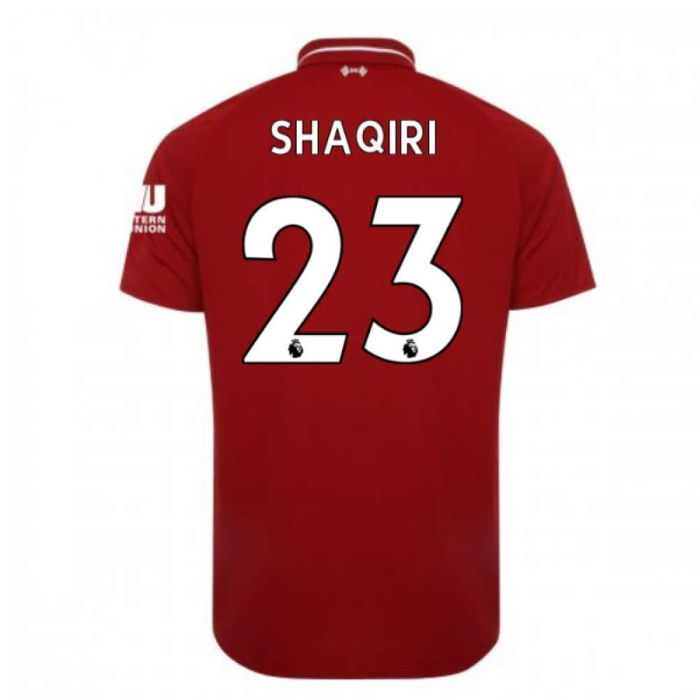 2018-2019 Liverpool Home Football Soccer T-Shirt Trikot (Xherdan Shaqiri 23)